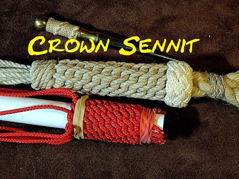Continuous Crowning Using the Crown Sennit as a Covering Knot - How to Tie a Continuous Crown Knot