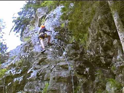 Klettersteig Nasenwand : Nasenwand klettersteig youtube