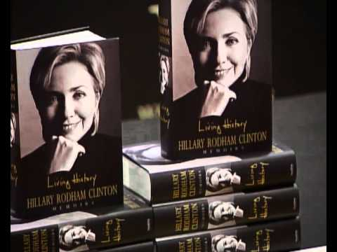 hillary clinton launches her book living history youtube