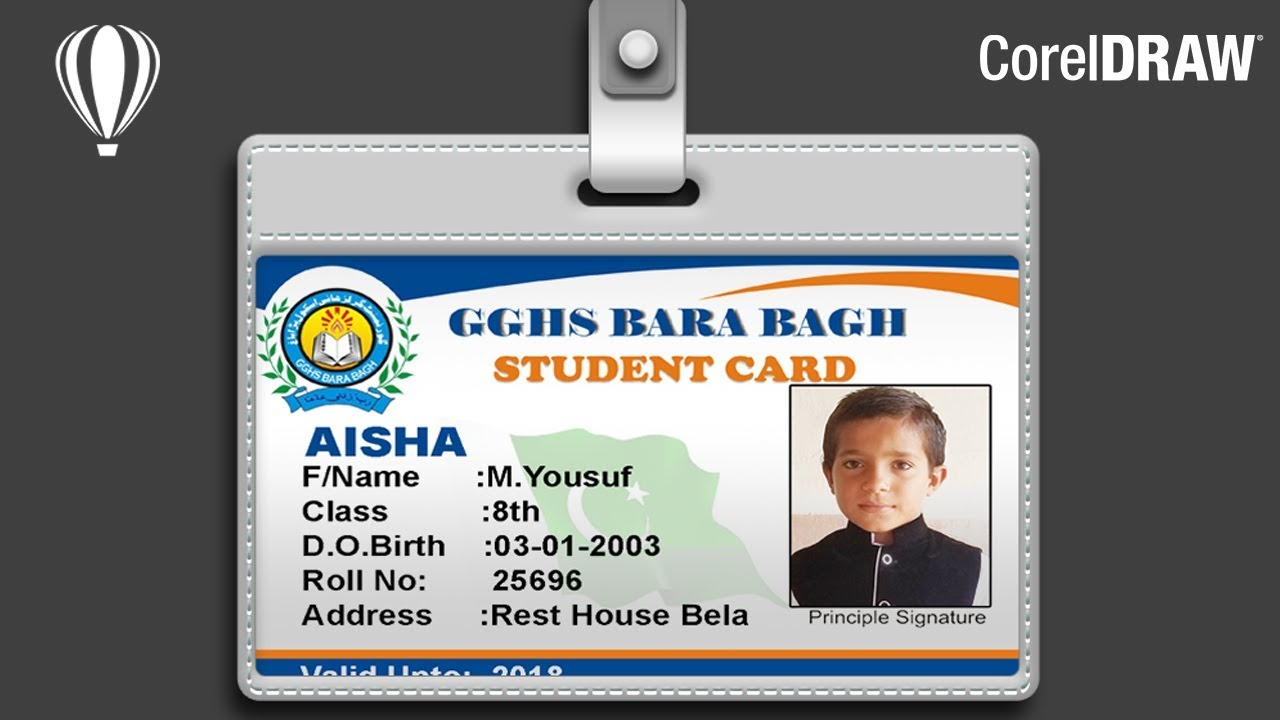student card design in coreldraw - Id In Design