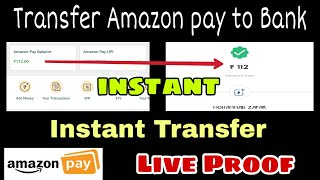 Instant Amazon pay to Bank transfer at 0% Charges Live Proof | how to transfer amazon pay to Bank