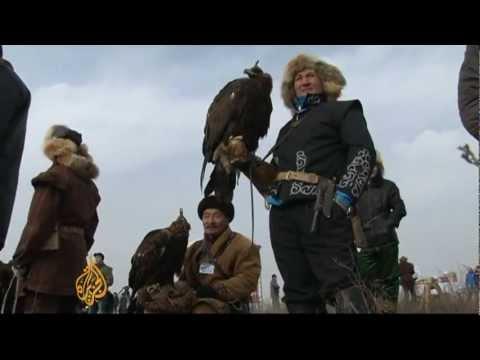 Winter eagle-hunting in Kazakhstan