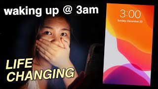 waking up at 3am for a WEEK *life changing*