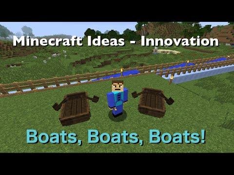Ultra Fast Travel in Boats - Minecraft 1.9 - Minecraft Ideas Innovation