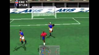 Retrogaming Fifa World Cup 2014 : Costa Rica Italy (Alexi Lalas International Soccer Playstation)
