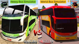 Heavy Bus Simulator vs World Bus Driving Simulator | Best Bus Games Comparison screenshot 3