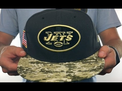 4b9c15fcf Jets  2016 SALUTE-TO-SERVICE  Grey-Desert Fitted Hat by New Era ...
