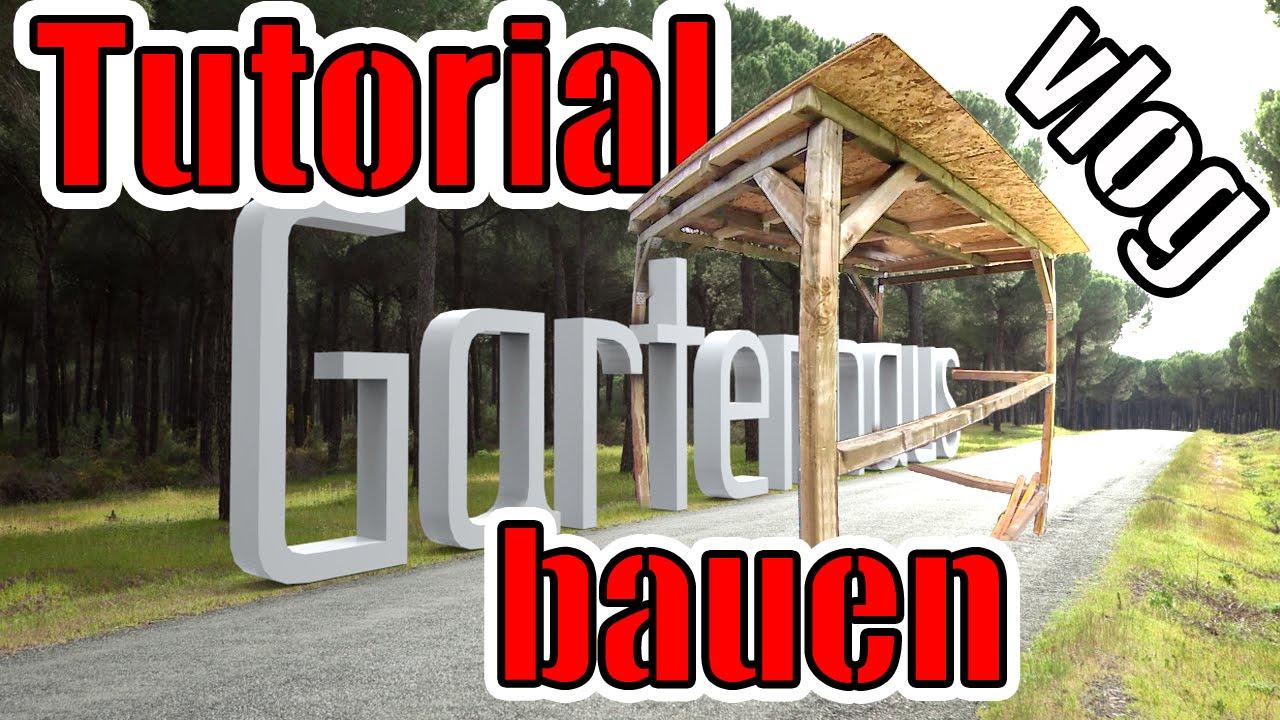 Gartenhaus bauen anleitung vlog tag 4 konstruktion steht 160kg beton youtube - Gartenhaus dach erneuern ...