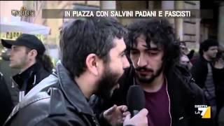 In piazza con Salvini padani e fascisti