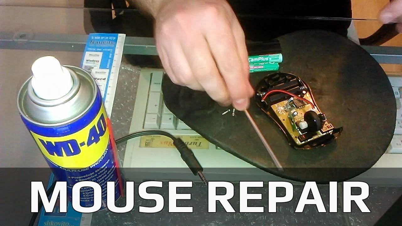 Computer Mouse Repair – Click Buttons and Scroll Wheel
