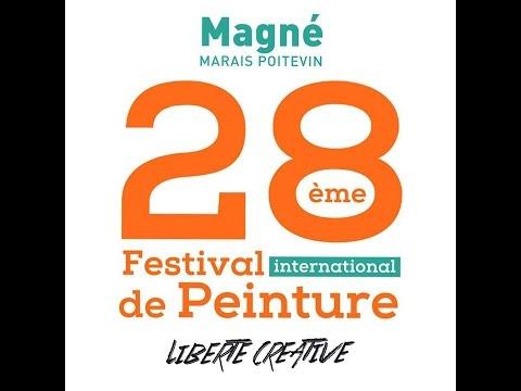 28è FESTIVAL DE PEINTURE DE MAGNE (Deux-Sèvres FRANCE). En vidéo, la remise des prix.