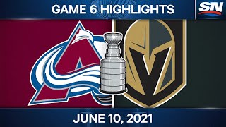 NHL Game Highlights   Avalanche vs. Golden Knights, Game 6 - Jun. 10, 2021