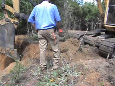 Clearing pathways for Geo tech soil boring rig