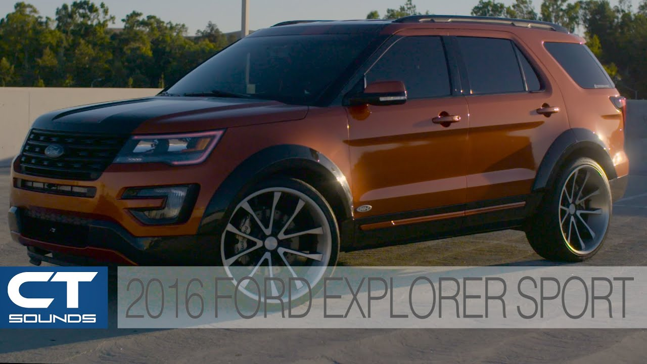 ct sounds system overview 2016 ford explorer sport with cars by kris youtube. Black Bedroom Furniture Sets. Home Design Ideas