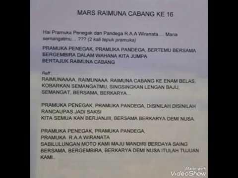 MARS RAIMUNA CABANG XVI KWARCAB KABUPATEN BANDUNG