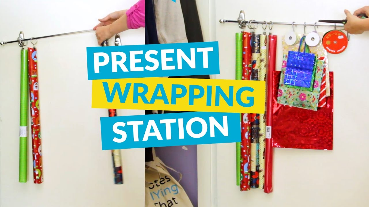 Create A Wrapping Station On Your Closet Door!