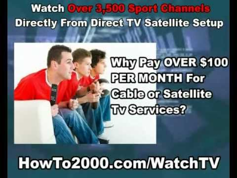 direct tv satellite setup watch over 3500 sport channels youtube. Black Bedroom Furniture Sets. Home Design Ideas