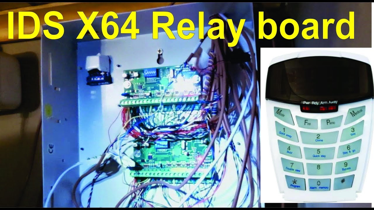 How to connect a relay board to an ids x64 expander module youtube how to connect a relay board to an ids x64 expander module asfbconference2016 Image collections