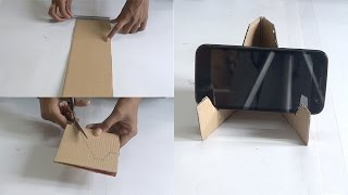 diy crafts making of mobile stand in 5 minutes using waste material tutorial