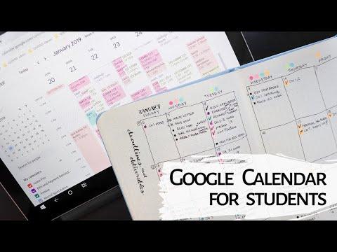 how i use Google Calendar | calendar blocking for focus & efficiency