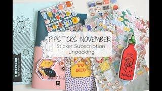 Opening my Pipsticks Pack November | Stationery Haul Videos