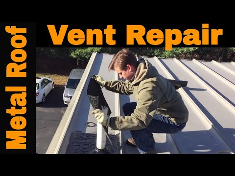 Metal Roof - How to make a longlasting patch