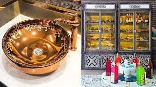 Пьём османский шербет! Кафе в старинном стиле, золотые раковины :) Измир, Турция.
