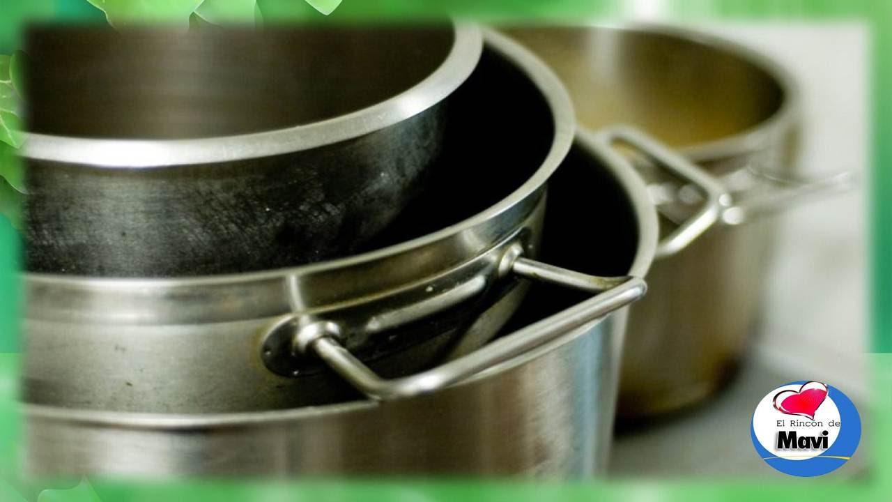 Como limpiar las ollas y sartenes de acero inoxidable - Limpiar acero inox ...