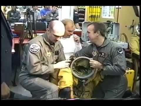 NASA SR71 @ Milwaukee pilots Bob Meyer  Eddie Schneider putting on pressure suits, takeoff and flyby