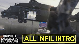 ALL MAP INFIL (Intro & Pre-match Infiltration Sequence on Every Maps) - Call of Duty: Modern Warfare