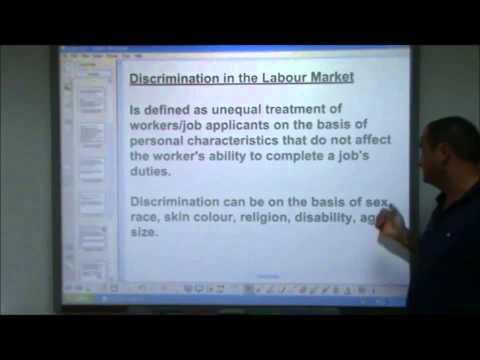 AS-Level Economics Video 23 - Market Failure in Labour Markets