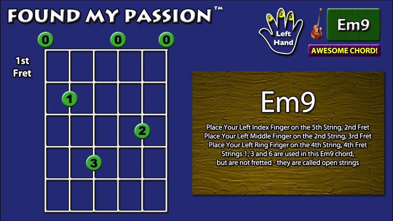 Awesome Sounding Guitar Chord Em9 0 2 4 0 3 0 Youtube