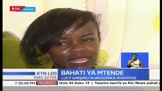 Tracy Wanjiru aliyenusurika katika shambulizi la kigaidi Westgate anusirika tena Riverside