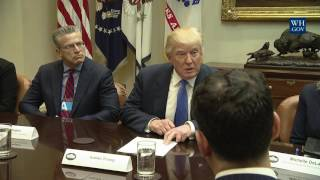 President Trump Leads a Listening Session on Domestic and International Human Trafficking