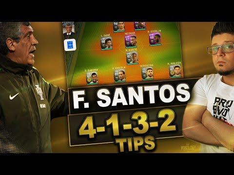 PES 2019 myClub Tips | F. Santos 4-1-3-2 Squad Builder ADVANCED INSTRUCTIONS. (ES)
