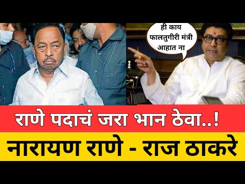 Download ही काय फालतुगीरी ! मंत्री आहात जरा पदाचं भान ठेवा ! Narayan Rane Raj Thackeray angry