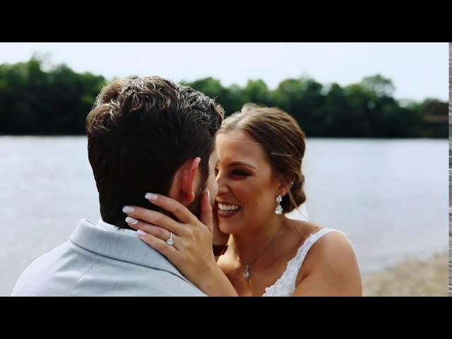 Maggie + Brandon | Lakeside Wedding Ceremony | Eau Claire, Wisconsin
