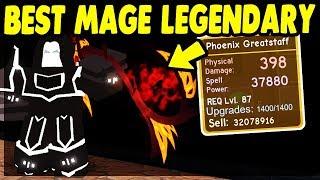 *NEW* BEST MAGE LEGENDARY (Phoenix Greatstaff) The Underworld UPDATE | Roblox: Dungeon Quest