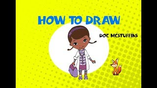 How to draw Doc McStuffins - STEP BY STEP - ART LESSONS