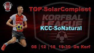 TOP/SolarCompleet 1 tegen KCC/SoNatural 1, zaterdag 8 december 2018