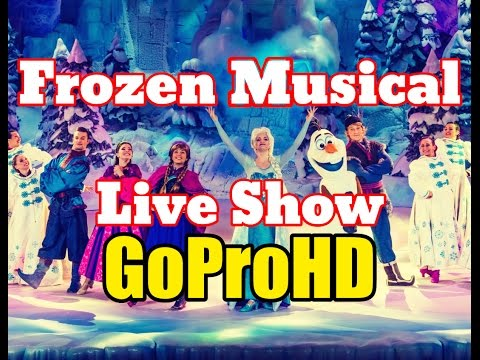 Disneyland Frozen Musical Live New (GoPro HD) - California Adventure Play Let It Go
