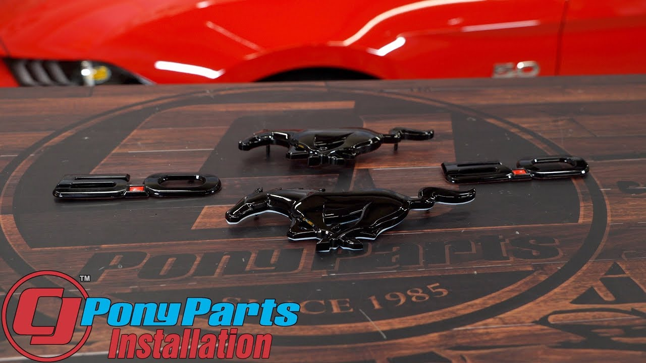 2017 Mustang Gt Premium >> 2018-2020 Mustang GT Emblem Kit With Front Pony/Rear Pony/5.0 Fender Gloss Black Installation ...