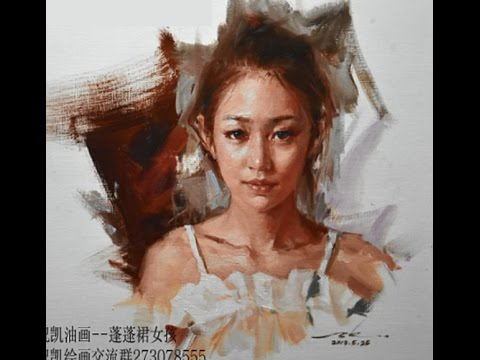 Oil Painting Portrait Tutorial by Zhu Kai Master Artist