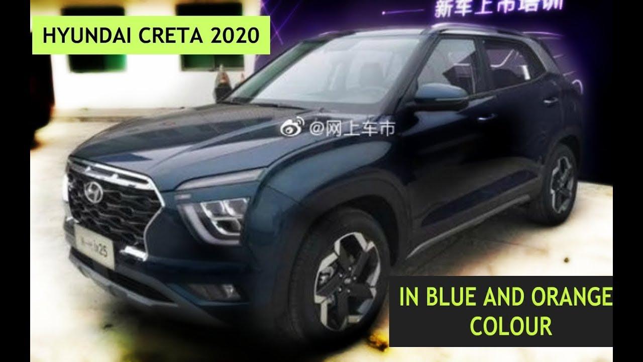 Hyundai Creta 2020 In Dark Blue And Orange Colour Youtube