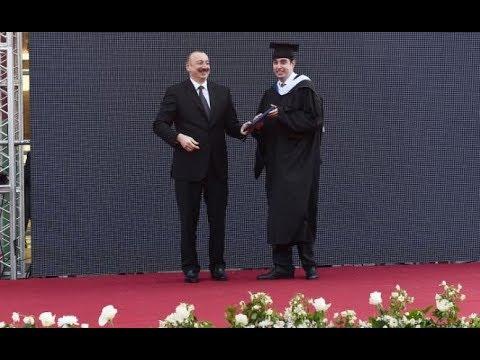 Prezident İlham Əliyev oğlunun məzun günündə