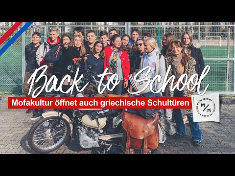 Nie mehr Schule? Falsch gedacht! | Mit dem Mofa in der Deutschen Schule Athen