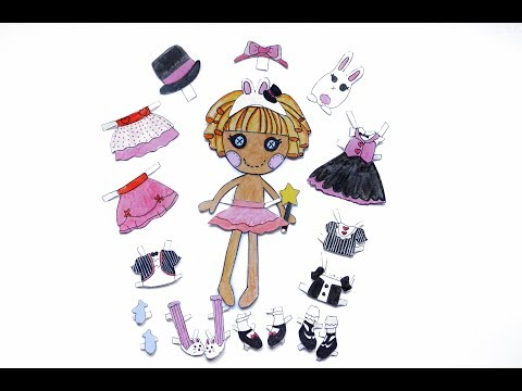 Lalaloopsy PAPER DOLLS - How To Draw Her Clothes / Лалалупси и как нарисовать ей одежду.
