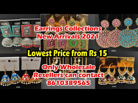 Earrings Collections New Arrivals 2021   Wholesale Price   Worldwide Shipping- Contact 8610389565
