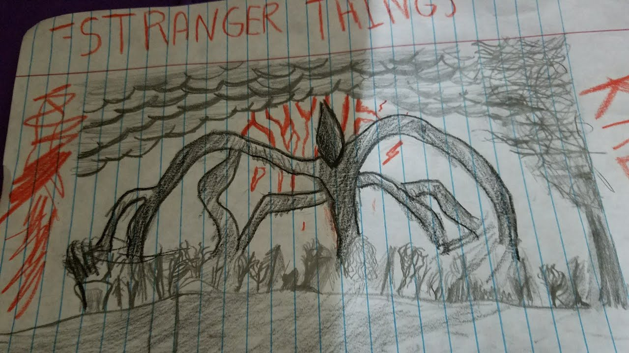 Completely Drawing Shadow Monster Stranger Things Youtube