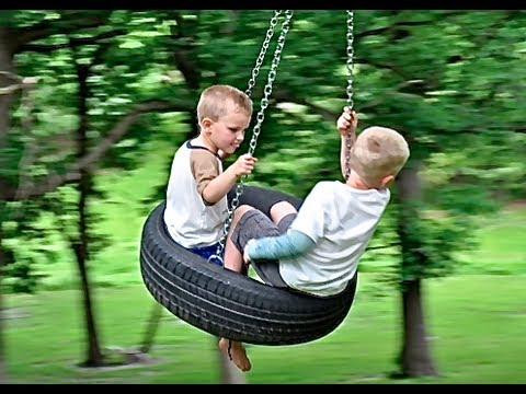 How To Build A Tire Swing - YouTube